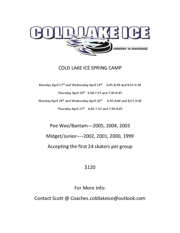 COLD LAKE ICE SPRING CAMP