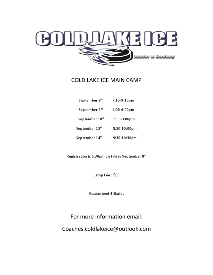 COLD LAKE ICE MAIN CAMP